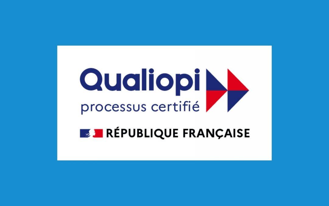 Logo formation professionnelle certifiée Qualiopi